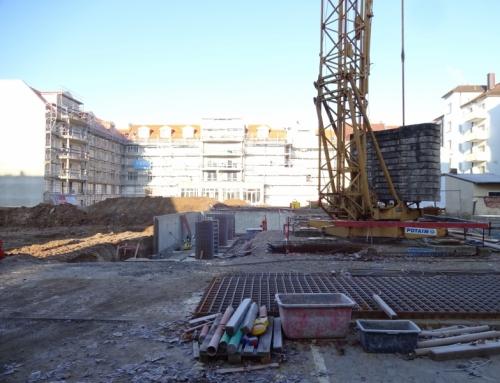 Luitpold-Terrassen, Baustellenfoto