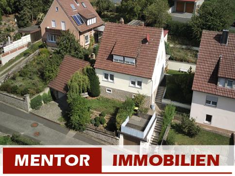 Luftaufnahme Einfamilienhaus in Werneck/Stettbach