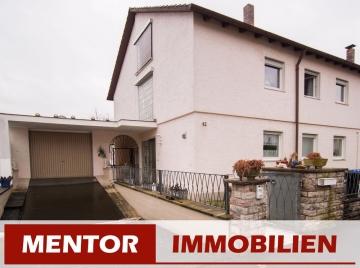 Viel Platz im Haus und ein schönes Grundstück in begehrter Lage – Doppelhaushälfte, 97464 Niederwerrn, Doppelhaushälfte