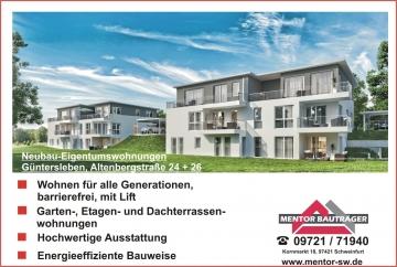 """Wohnen am """"Altenbergplateau!, 97261 Güntersleben, Etagenwohnung"""