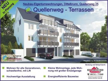 """Neubau Eigentumswohnungen """"Quellenweg-Terrassen"""", 97456 Dittelbrunn, Terrassenwohnung"""